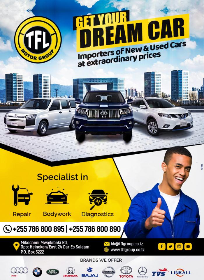 TFL Motors Group Ltd in Dar es salaam - Tanzania – WhizzTanzania